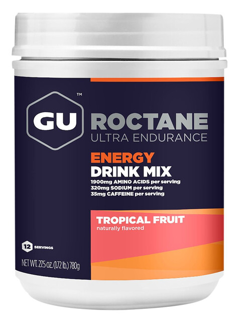 GU Energy Roctane Ultra Endurance Energy Drink Alimentazione sportiva Tropical Fruit 780g